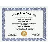 Seagull Degree: Custom Gag Diploma Doctorate Certificate (Funny Customized Joke Gift - Novelty Item) by GD Novelty Items [並行輸入品]