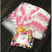 creve ホワイトデー ラッピング ギフトバッグ ハート型デザイン チョコレート袋 お菓子袋 50枚セット 10×7cm ピンク&ホワイト
