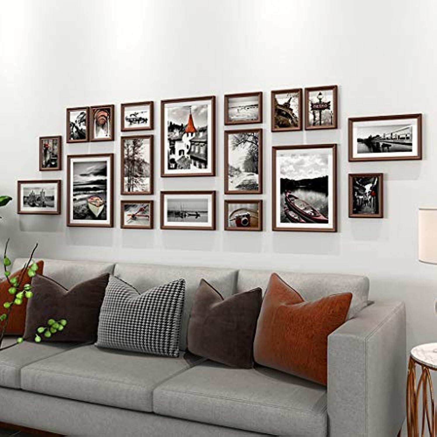なるライトニングポイントLXYA 壁画の絵画 ウォールデコレーション フォトディスプレイラックを壁にマウント ソリッドウッドフォトフレームの組み合わせ 壁に多機能フォトフレーム パンチング穴のない簡単にインストールします リビングルーム、廊下、ベッドルーム、階段で使用 (Color : C3)