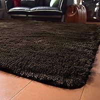 ラグ ラグマット 洗える シャギー 3畳 約190cm×240cm ブラウン 茶 SARAH サラ 毛足30mmのふわふわさらさらエアリーパイル おしゃれ ホットカーペット対応 軽量設計