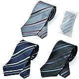 グリニッジ ポロ クラブ 洗えるネクタイ 3本セット 洗濯ネット1個付き 撥水加工 レジメン (pb)