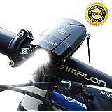 Bike Lights USB Rechargeable LED Bicycle Headlight Bank (2000mAh / 1000 Lumen) Super Bright IP65 Waterproof Light for Bike / Flashlight