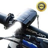 SHENKEY 自転車ライト 自転車前照灯 自転車ヘッドライト 高輝度  USB充電  タッチスイッチ IP65防水  コンパクト 軽量 [並行輸入品]