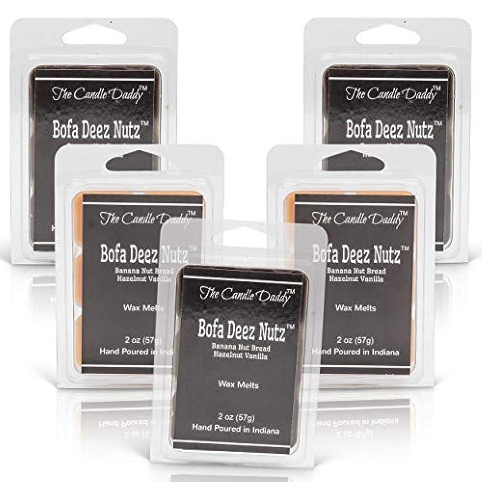 マーチャンダイジング五削除するThe Candle Daddy Bofa Deez Nutz バナナナッツブレッド ヘーゼルナッツバニラ 最大香り ワックスキューブ/タルト/メルト- 5パック 合計10オンス キューブ30個