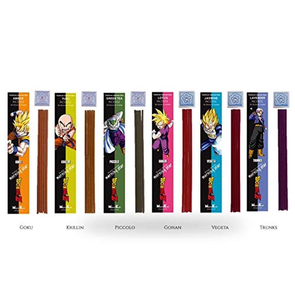 ガウンモニカ君主制iTakara - 日本コド朝の星 お香 ドラゴンボールZ スペシャルコレクション | 6フレグランス X 35