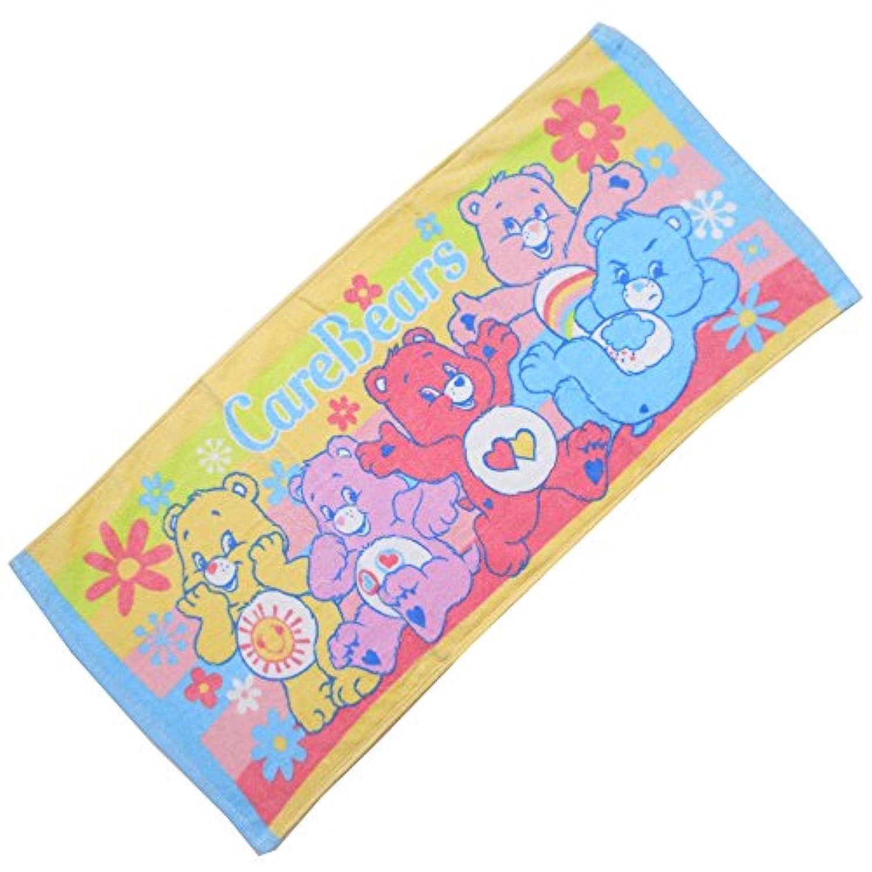 FTL-79/【CARE BEAR/ケアベア】キャラクターフェイスタオル(ブルー)/キャラクター/綿/洗顔/手洗い/外出/携帯/手拭/ギフト/プレゼント
