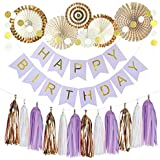 Buddykit 誕生日 飾り付け 男の子 豪華20点 ペーパーファン セットブルー お祝い パーティー 飾る ペーパーフラワー ホームパーティー 装飾 バースデー デコレーションP0001-02