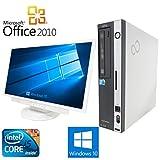 【Microsoft Office 2010搭載】【Win 10搭載】【超大画面22インチ液晶セット】富士通 D750/A/新世代Core i5 3.2GHz/メモリ4GB/HDD500GB/DVDスーパーマルチ/中古デスクトップパソコン