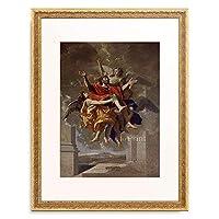 ニコラ・プッサン Poussin, Nicolas 「Die Verzuckung des heiligen Paul」 額装アート作品