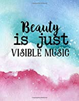 Beauty is Just Visible Music: 2020 Weekly Monthly Yearly Planner, 12 Month Notebook Journal Dated Agenda Appointment Calendar Organizer Book To Do, Watercolor Landscape Red Pink to Green Blue