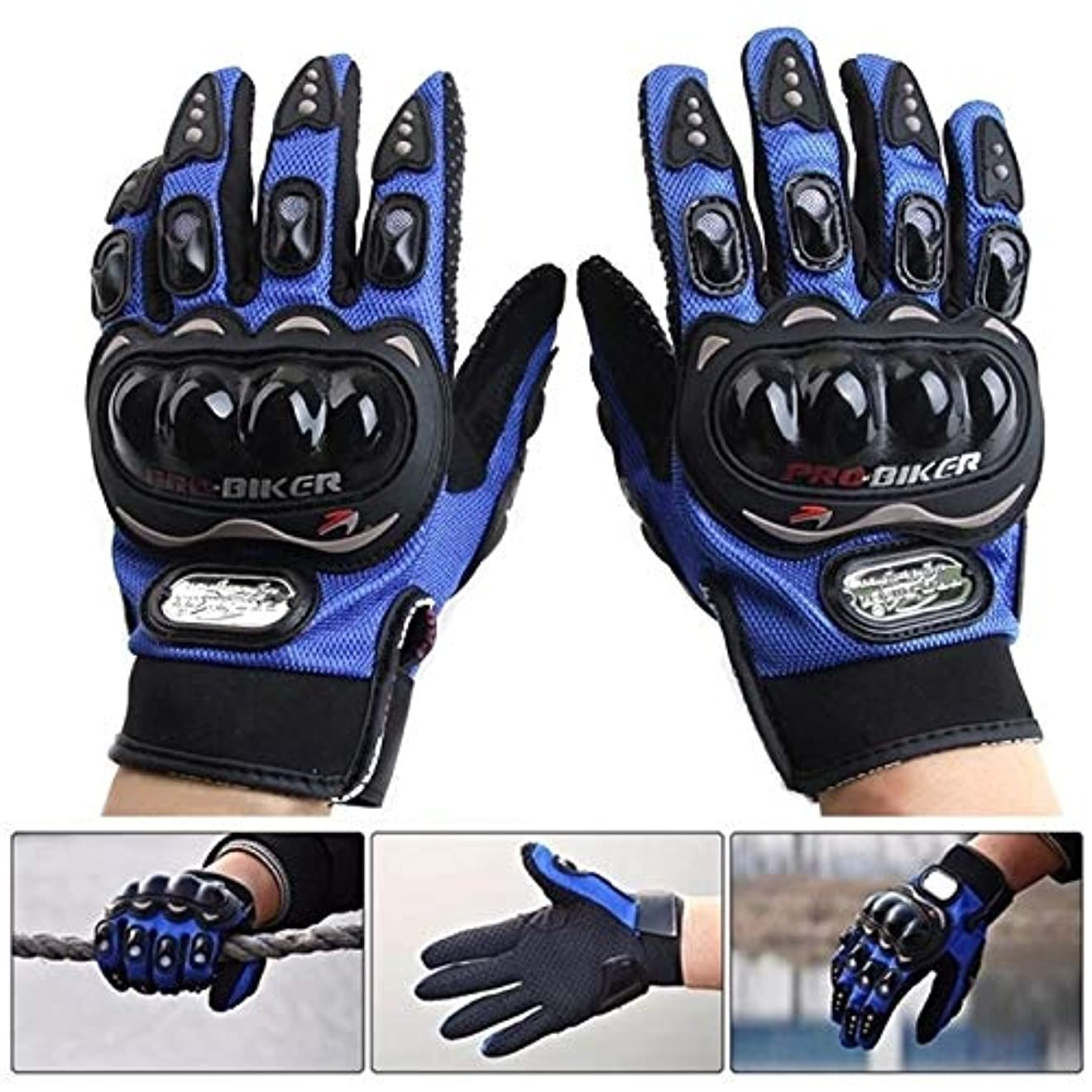 フォージ軍団シーケンスJieming PRO-BIKER MCS-01C通気性ウェアラブルフルフィンガープロテクティブオートバイグローブアウトドアスポーツ保温用手袋、サイズ:2XL(28cm)
