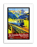 Train Rail Golden Pass Switzerland Alpine Summer Travel Canvas Art Print
