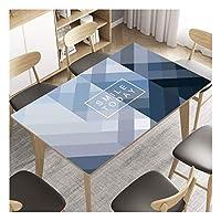 長方形 テーブルクロス ポリ塩化ビニールの防水プロテクター表ソフトガラステーブルマットカバー耐油使い捨てアンチやけど現代のミニマリストのクリスタルのコーヒーテーブルクロス (Color : A, Size : 80*120cm)