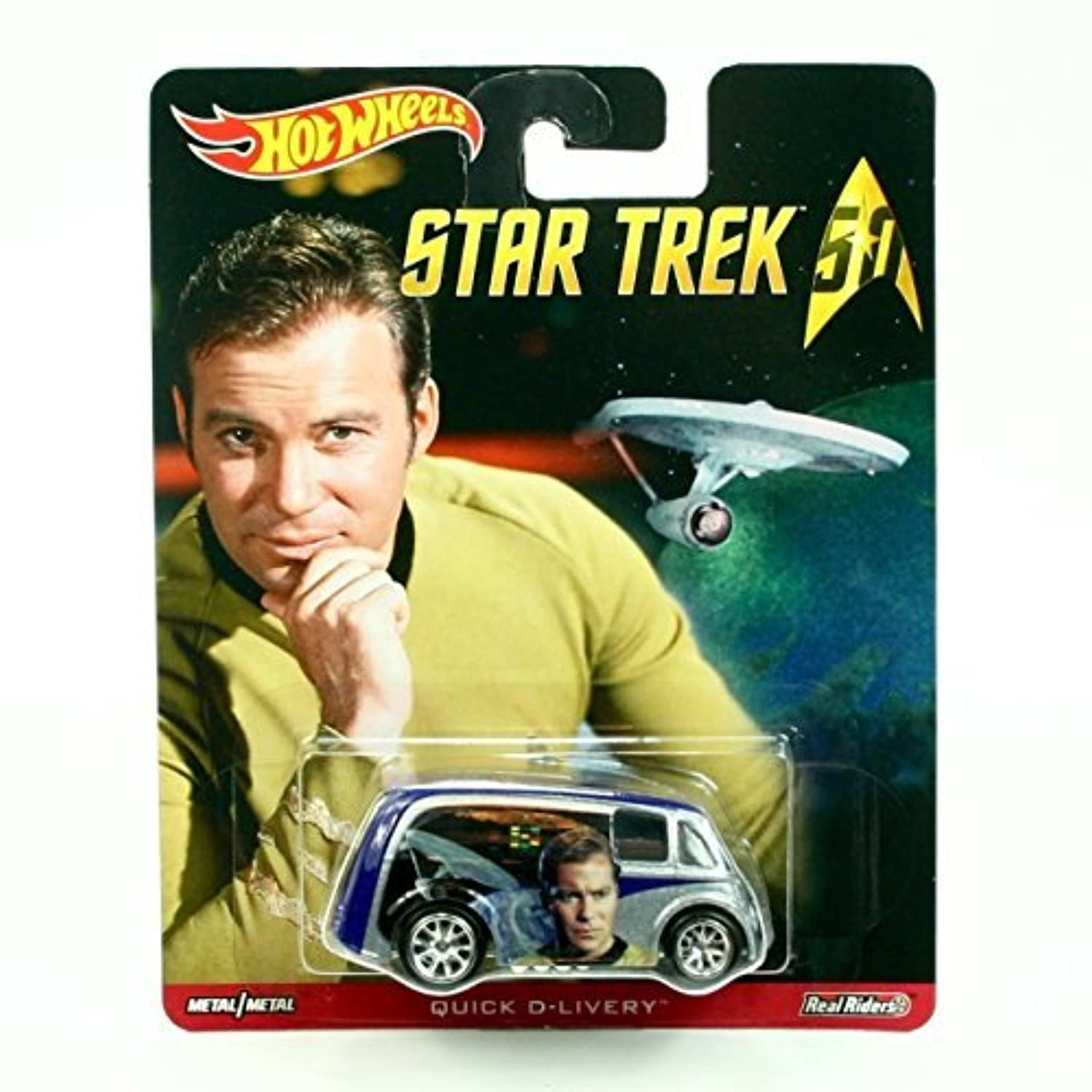 QUICK D-LIVERY * Star Trek / Captain James T. Kirk * Hot Wheels 2015 Pop Culture Star Trek 50th Anniversary Series Die-Cast Vehicle [並行輸入品]