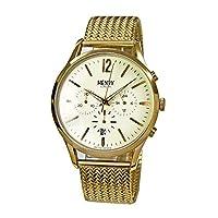 ヘンリーロンドン HENRY LONDON 【70】0020(クリーム/ゴールド) 41mm/メッシュ メンズ 時計 腕時計 [並行輸入品]