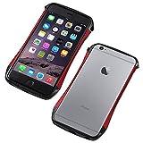 Deff カーボン アルミニウム ハイブリッド バンパー CLEAVE Carbon & Aluminum Bumper for iPhone 6s Plus/DCB-IP6PSA6CA (レッド)