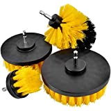 4 pcs Power Scrubber Brush Set for Bathroom, Drill Scrubber Brush for Cleaning Cordless Drill Attachment Kit Power Scrub Brus