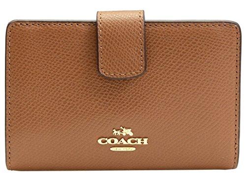 [コーチ] COACH 財布(二つ折り財布) F54010 サドル ラグジュアリー クロスグレーン レザー ミディアム コーナー ジップ ウォレット レディース [アウトレット品] [ブランド] [並行輸入品]