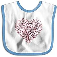よだれかけ Chita 知多市 心の形 ベビー ビブ スタイ 男の子 女の子 綿100% 柔らかい 出産のお祝いギフト Black