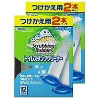【まとめ買い】 スクラビングバブル トイレ洗浄剤 トイレスタンプクリーナー フレッシュソープの香り 付替用4本セット (2本入り×2箱) 38g×4本