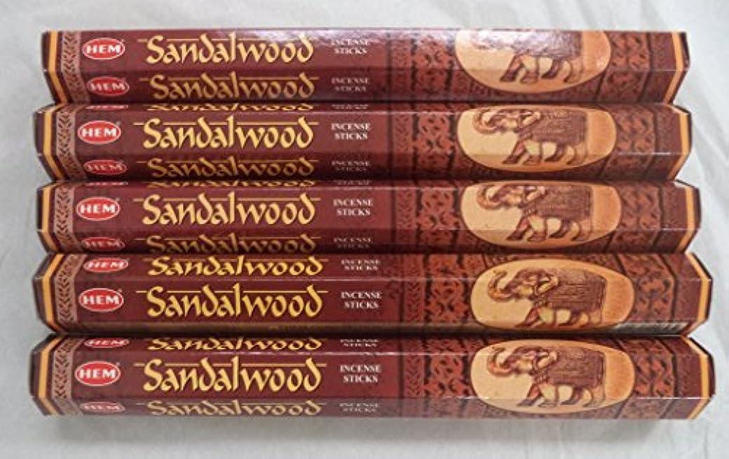 扇動うそつき健康的Hemサンダルウッド100 Incense Sticks ( 5 x 20スティックパック)