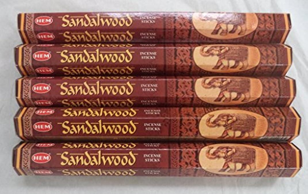 飛躍計器学士Hemサンダルウッド100 Incense Sticks ( 5 x 20スティックパック)