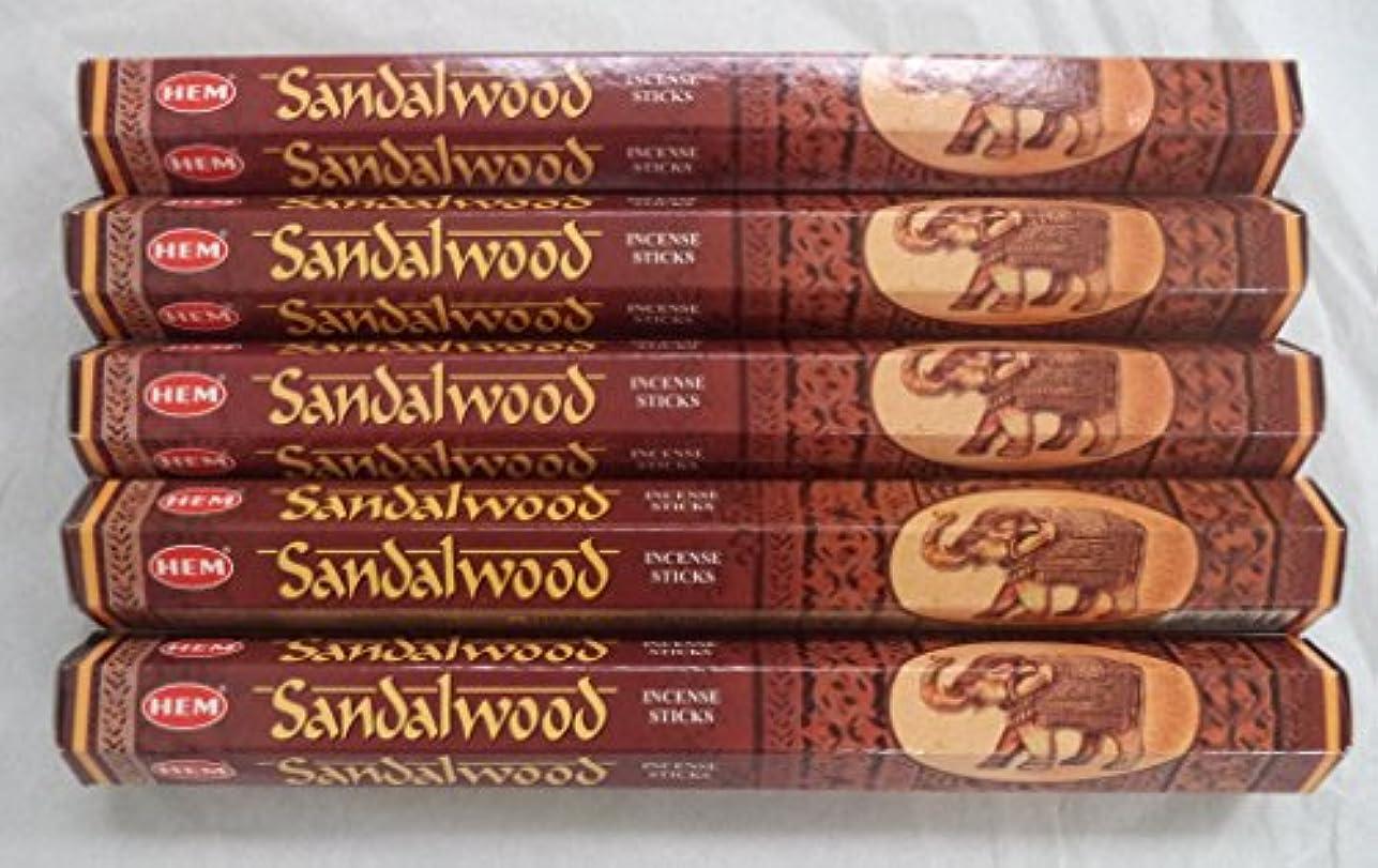 リズム上がるワークショップHemサンダルウッド100 Incense Sticks ( 5 x 20スティックパック)