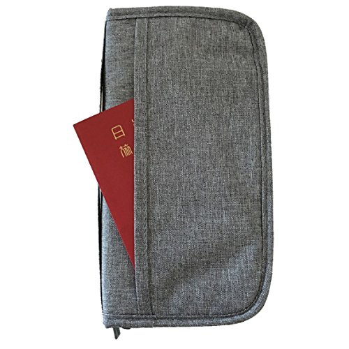 cerise de la saison パスポートケース パスポート入れ スキミング防止 パスポートカバー トラベルポーチ (グレー)