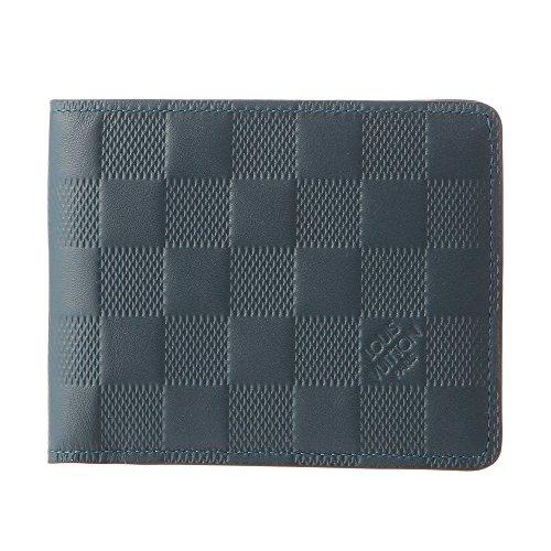 ルイヴィトン(Louis Vuitton) ダミエ アンフィニ DAMIER INFINI N63123 2つ折り財布 ネイビー 紺[並行輸入品]