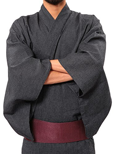 (ロシェル) roshell 浴衣5点セット メンズ 浴衣 メンズ 甚平 メンズ 浴衣セット メンズ 浴衣 メンズ M 縞しじら