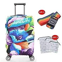 高弾性スーツケースプロテクタートロリーケース厚手の耐摩耗性家庭用防塵カバーは洗える,7,XL