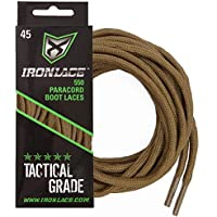 Ironlace 550 paracord boot laces