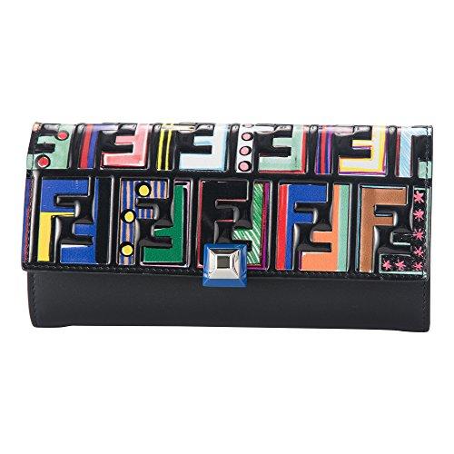 フェンディ(FENDI) 長財布 8M0251 A18I F0X93 ファン フェア ブラック 黒/マルチ [並行輸入品]