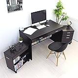 パソコンデスク 書斎机 システムデスク 120cm幅 システムデスク3点セット デスク+チェスト+ラック パソコンデスク pcデスク 120cm おしゃれ 収納 木製 TIP0310SETDBR