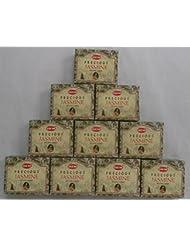 HEM Incense Cones: Precious Jasmine - 10 Packs of 10 = 100 Cones by Hem