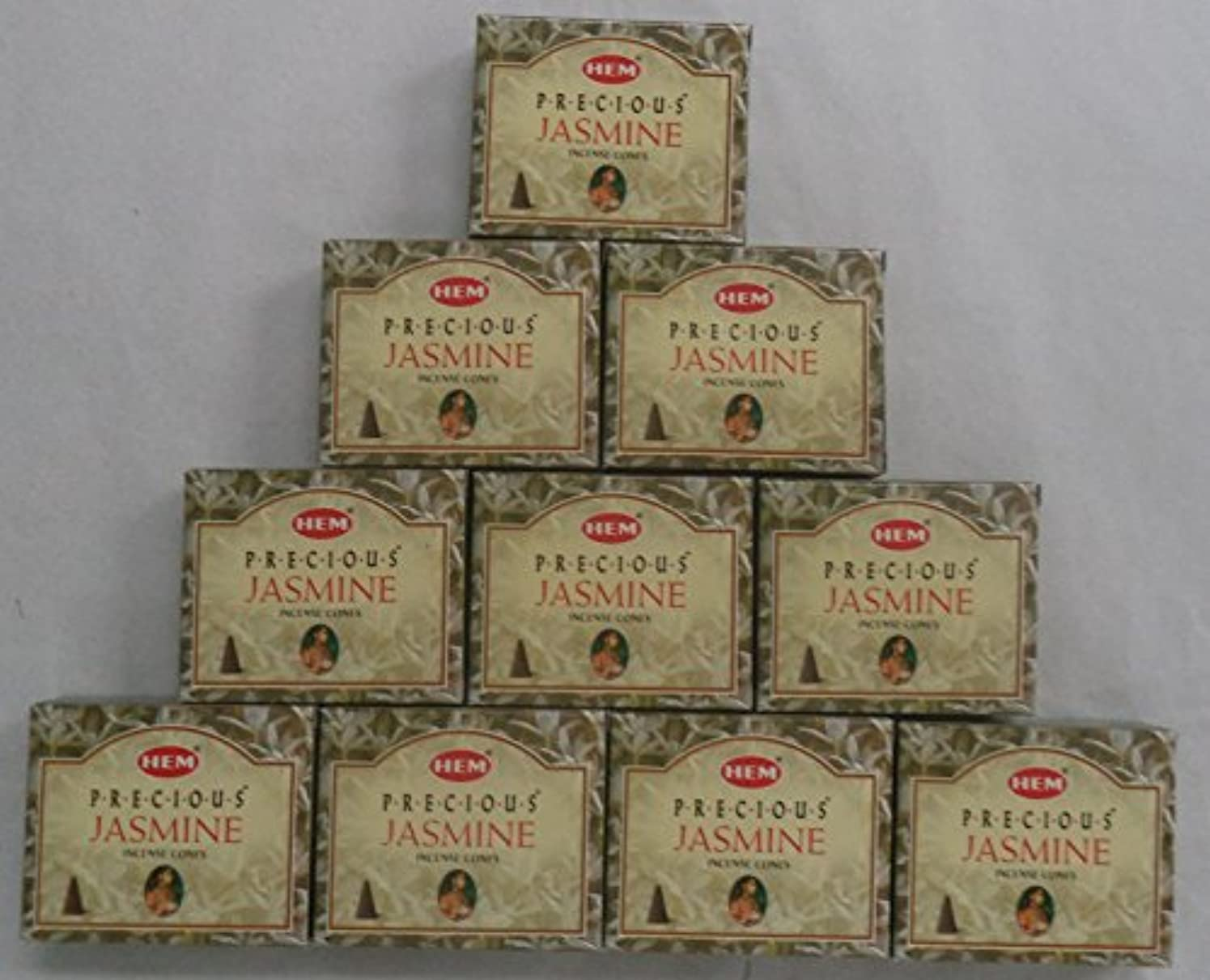 共産主義者罪悪感メルボルンHEM Incense Cones: Precious Jasmine - 10 Packs of 10 = 100 Cones by Hem