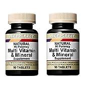 LIFE STYLE マルチビタミン&ミネラル ×2個
