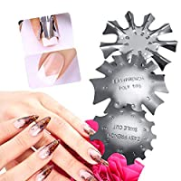 3PCS/SET Durable Metal Stainless Steel French Manicure Modeling Shaping Plates Crystal Nail Making Stamping Plates