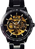 [スワンユニオン] swanunion メンズ 新型3針 自動巻き 防水腕時計 オートマチッックウォッチ スチームパンク[t221]