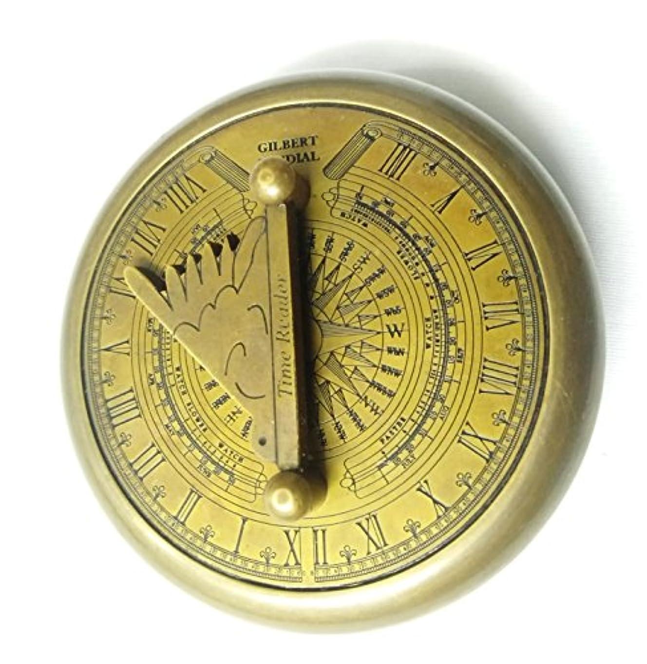 飲み込む旅行幻滅するArtshai Gilbertデザイン磁気コンパスCum時間Finder Sundial