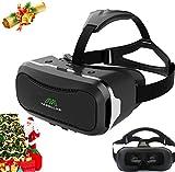 TEGOLLUS VRメガネ 3Dゴーグル 超3d映像効果 仮想現実 4-6インチのスマホ適用 黒
