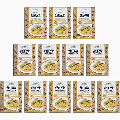 チブギス オーガニック イエローカレー ペースト(スイートバジル付き)【お得に100g x 12個セット】有機JAS認定/グルテンフリー/ヴィーガン CIVGIS Organic Yellow Curry Paste [ Organic Glutenfre