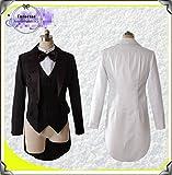 コスプレ衣装  燕尾服 コート ブラック 黑 白 選び自由「1着」