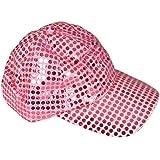 ピンクスパンコール野球キャップ