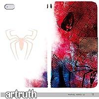 マーベル ヒーロー MARVEL HERO 手帳型 XPERIA Z5 SO-01H (G007203_03) 専用 アメコミ スパイダーマン マーク pop art センス 個性的 スマホケース