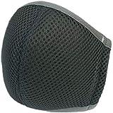 息らくらくマスク (ダークグレー) メッシュマスク [抗菌防臭][日本製] スポーツ 立体構造 口元空間 高通気 速乾 不織布マスクをフィルターとして挿入可