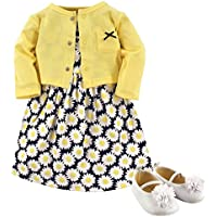 Hudson Baby Baby Girls' 3 Piece Dress, Cardigan, Shoe Set
