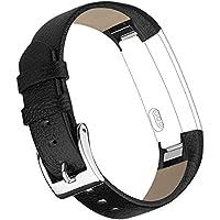 Vancle バンド for Fitbit Alta (HR) 高品質な革 交換バンド ベルト 腕時計ベルトfor Fitbit Alta 2016 / Alta HR 2017(機械がない)