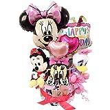 オムツケーキ 出産祝い おむつケーキ ディズニー 大人気 30枚 出産祝い バルーン 女 ミニー(パンパーステープタイプMサイズ)