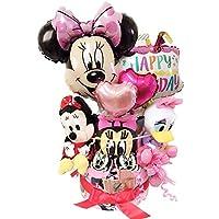 オムツケーキ 出産祝い おむつケーキ ディズニー 大人気 30枚 出産祝い バルーン 女 ミニー (パンパーステープタイプSサイズ)